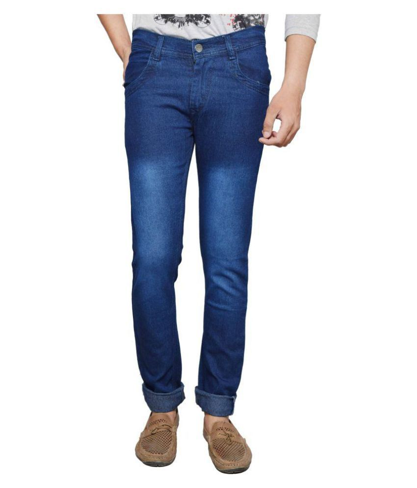 Delhiite Blue Relaxed Jeans