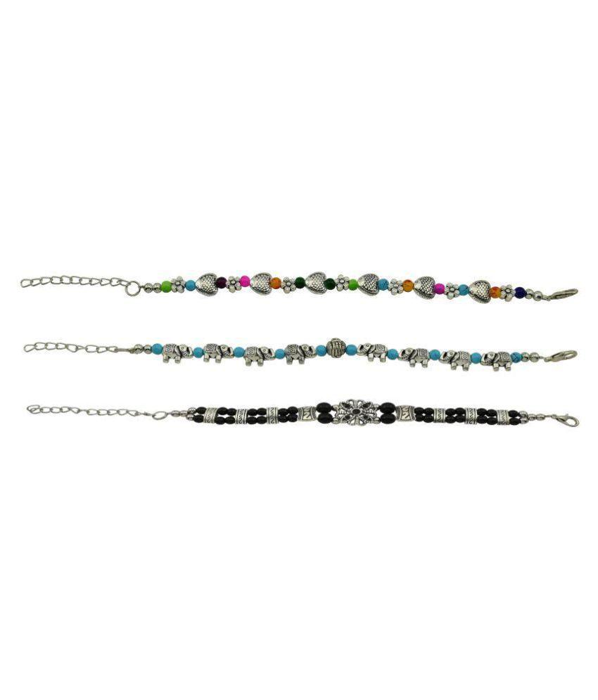 High Trendz Multicolor Bracelet - Pack of 3