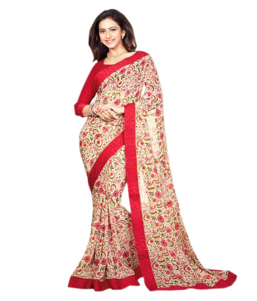 Laxmipathi Suit N Sarees Multicoloured Georgette Saree