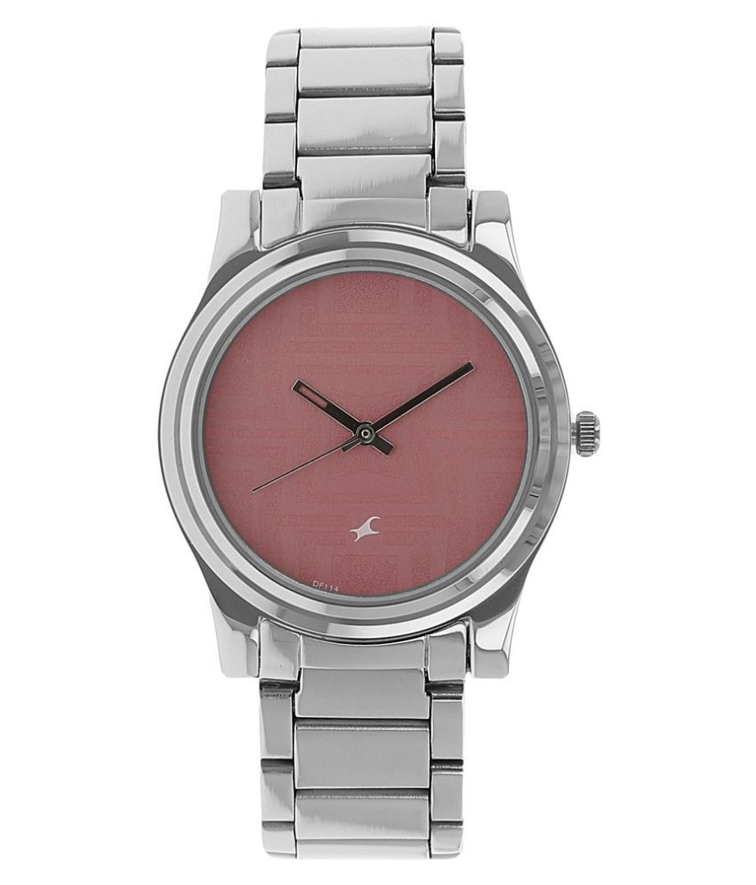 64b949817 Fastrack Pink Dial Analog Stainless Steel Watch for Women-NF6046SM02J Price  in India  Buy Fastrack Pink Dial Analog Stainless Steel Watch for ...
