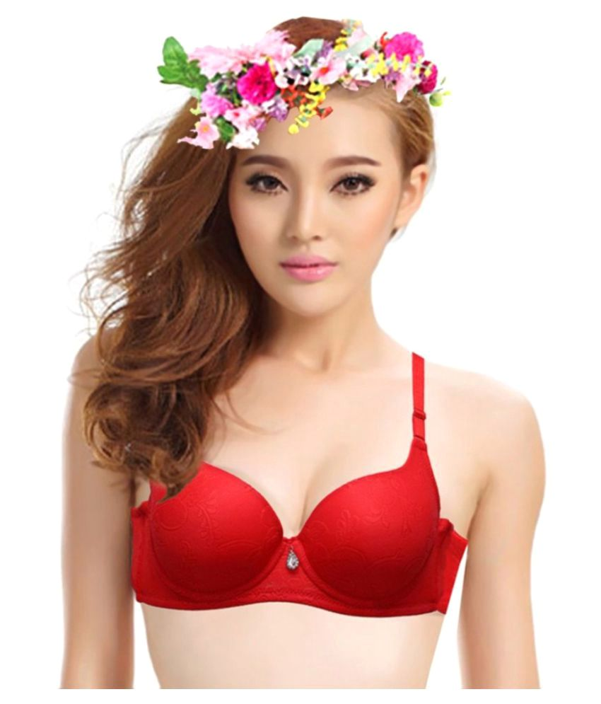 9b6f040e8eede Buy Florentyne Poly Cotton Push Up Bra Online at Best Prices in India -  Snapdeal
