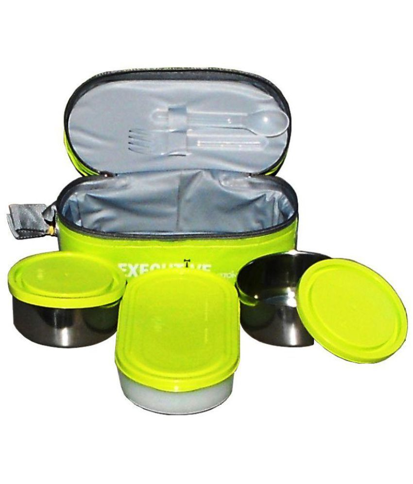 6c9a711624d Milton Green Stainless Steel Lunch Box  Buy Online at Best Price in India -  Snapdeal