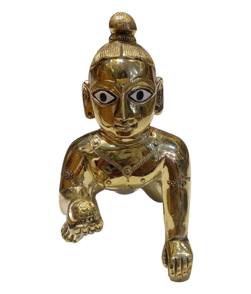 Vrindavan Art Krishna Brass Idol