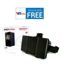 Karbonn Quattro L55 HD 16GB Blue With Free VR Box