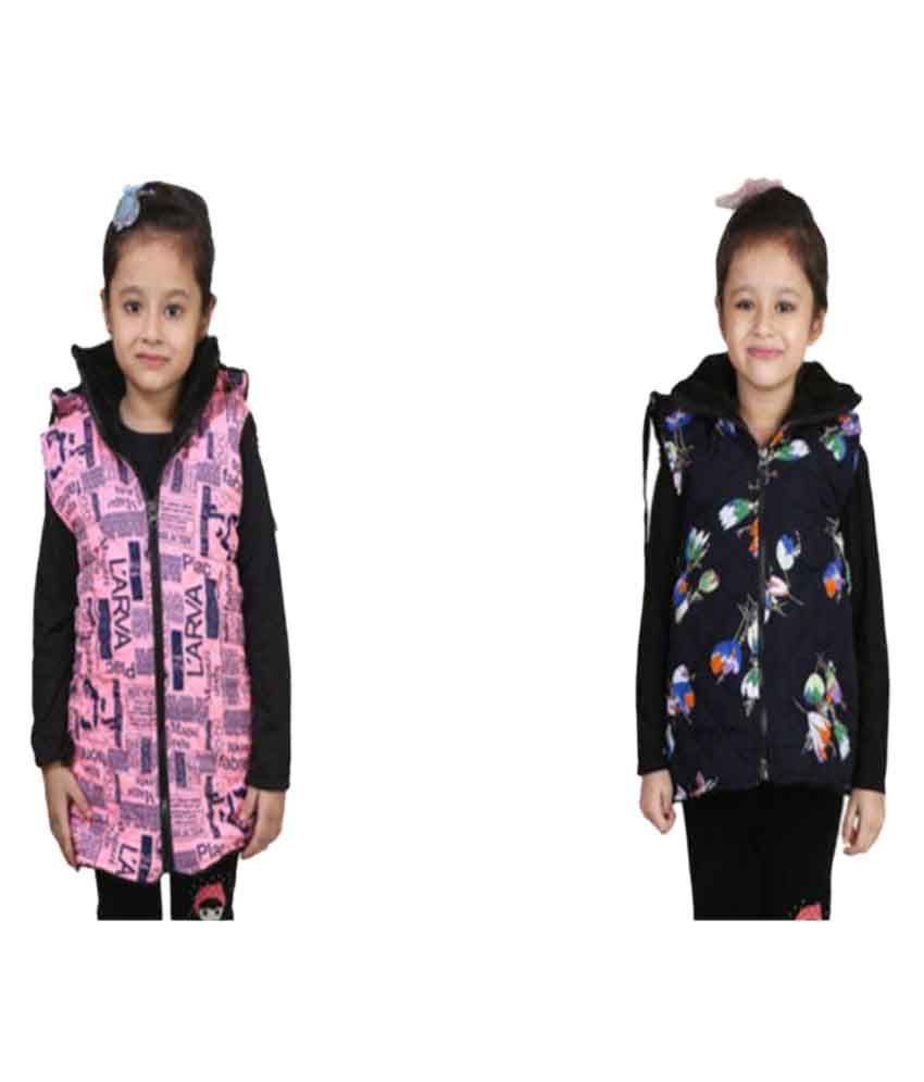 Crazies Multicolor Jacket For Girls - Pack of 2