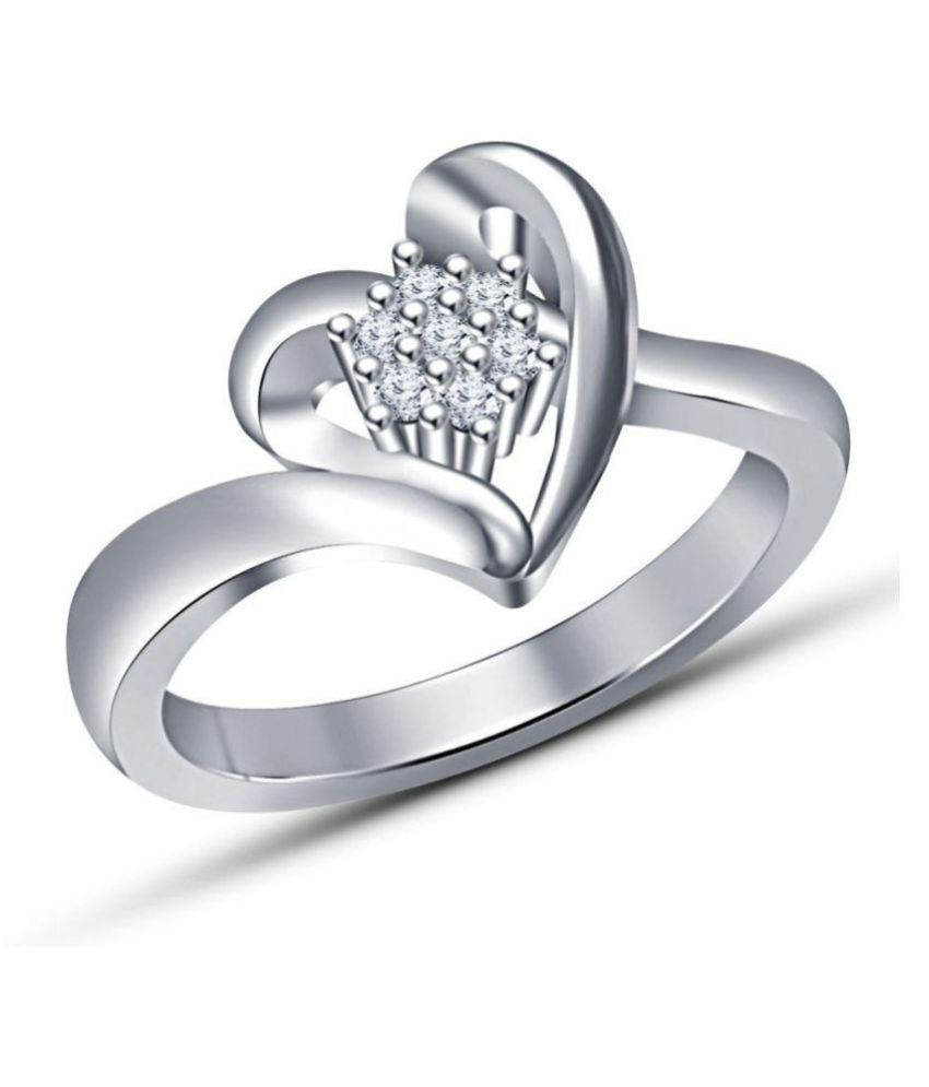 Nysha Collection 92.5 Silver Cubic zirconia Ring