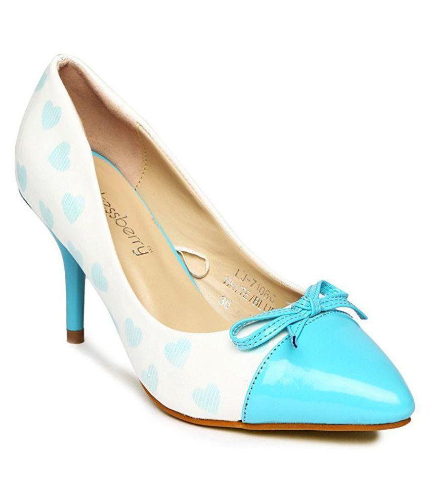 Dreesberry Blue Kitten Heels