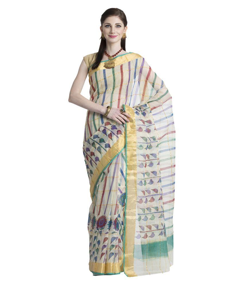Coolethnic Multicoloured Cotton Saree