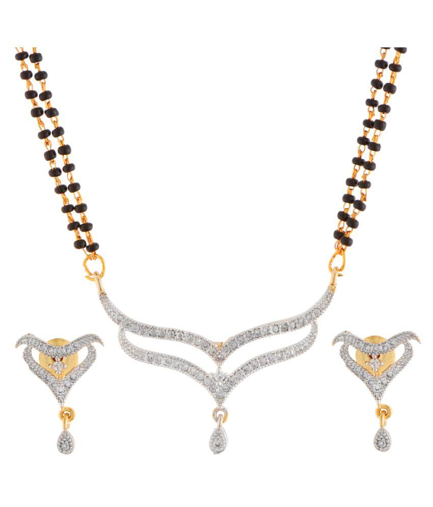 Manikya Golden Brass Mangalsutra Set