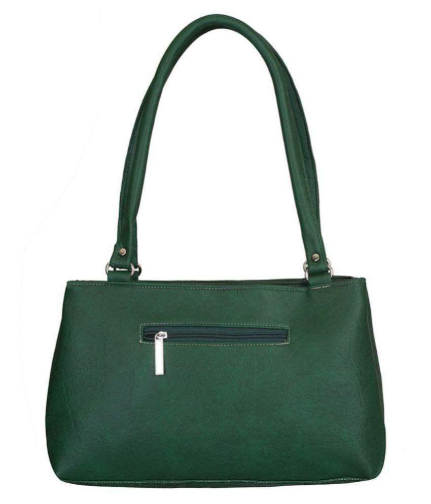 Right Choice Green P.U. Shoulder Bag