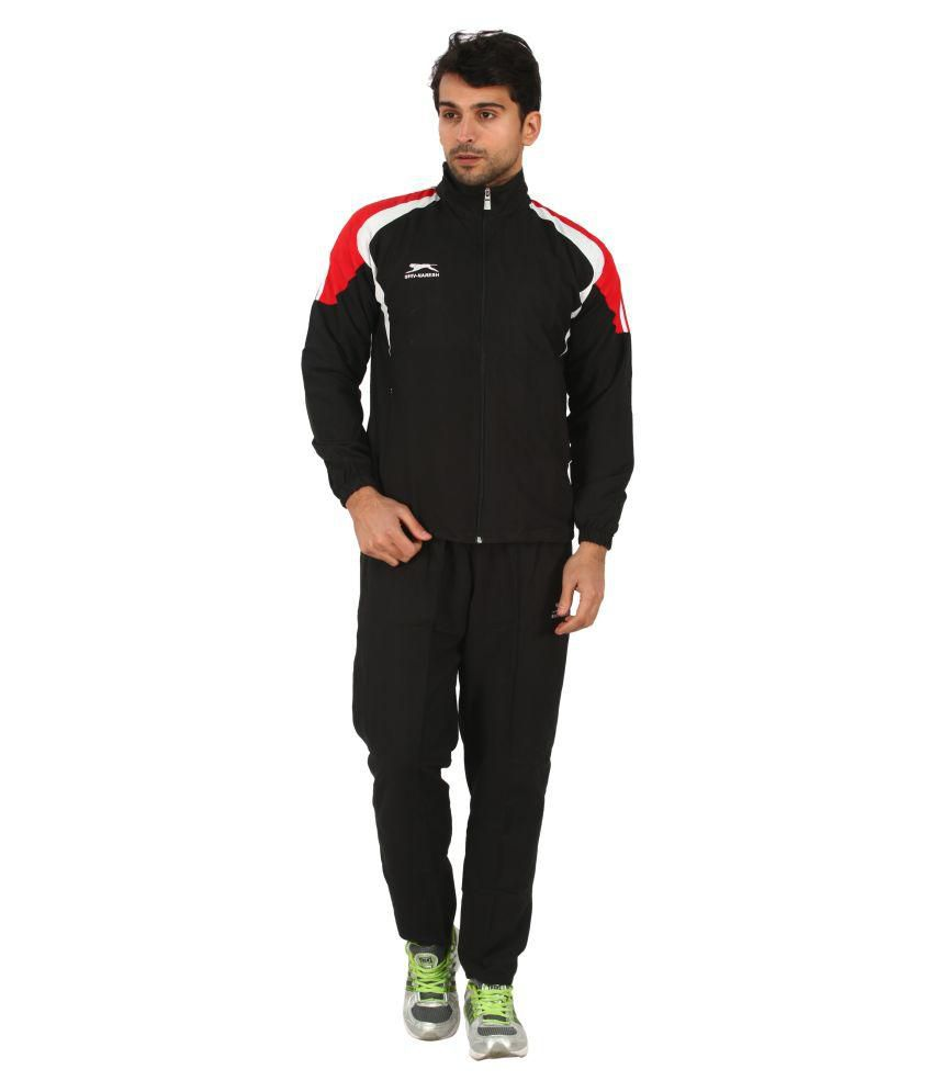 Shiv Naresh Black Polyester Track Suit