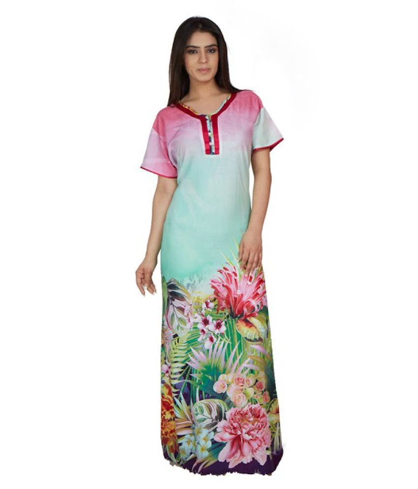 a1c4cf85b1 Buy Lady Beauty Cotton Nighty   Night Gowns Online at Best Prices in India  - Snapdeal