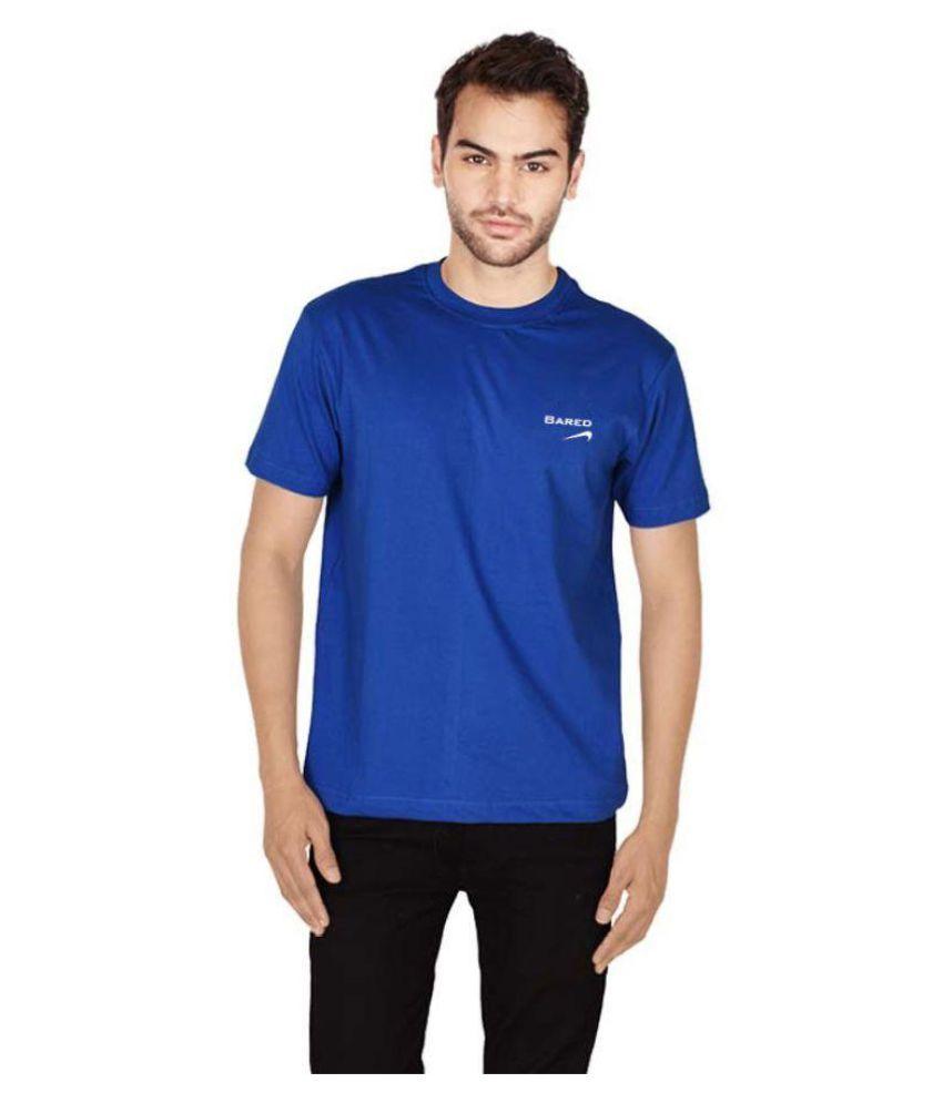 Bared Blue Round T-Shirt