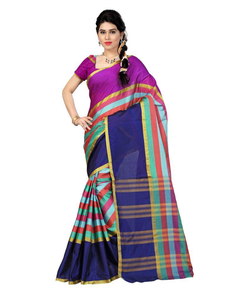Inheart Multicoloured Dupion Silk Saree