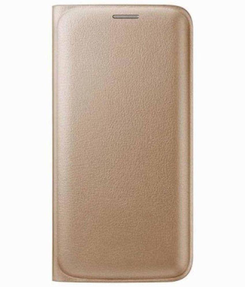 Lenovo A2010 Flip Cover by MV - Golden