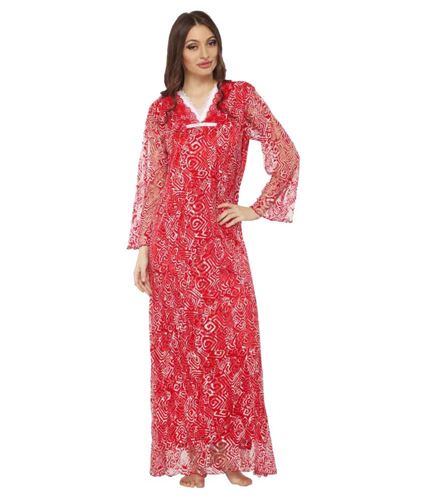 1ba130cc2b0 Buy Vixenwrap Net Nighty   Night Gowns Online at Best Prices in India -  Snapdeal
