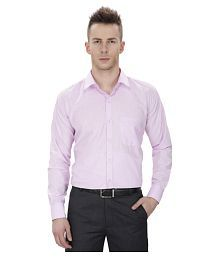 Regal Fit Plus Purple Formal Regular Fit Shirt