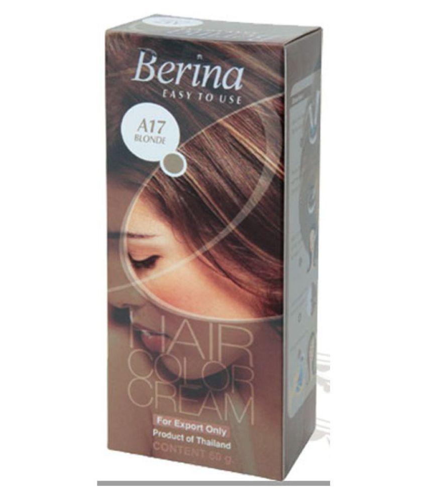 BERINA HAIR CCOLOR CREAM A17 BLONDE Permanent Hair Color Blonde 60 gm