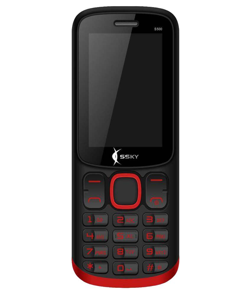 SSKY Reaching life S500 2200mAh Battery 32 MB Red