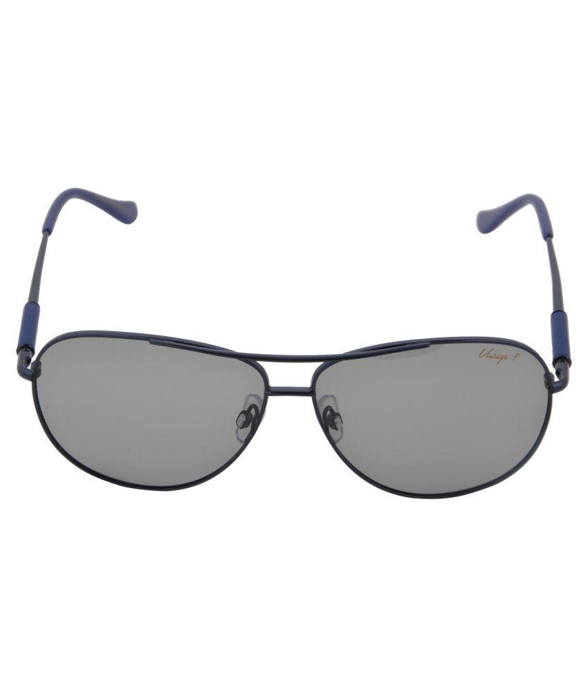 vintage Grey Aviator Sunglasses ( Frippery, Col. :- 164-1 )