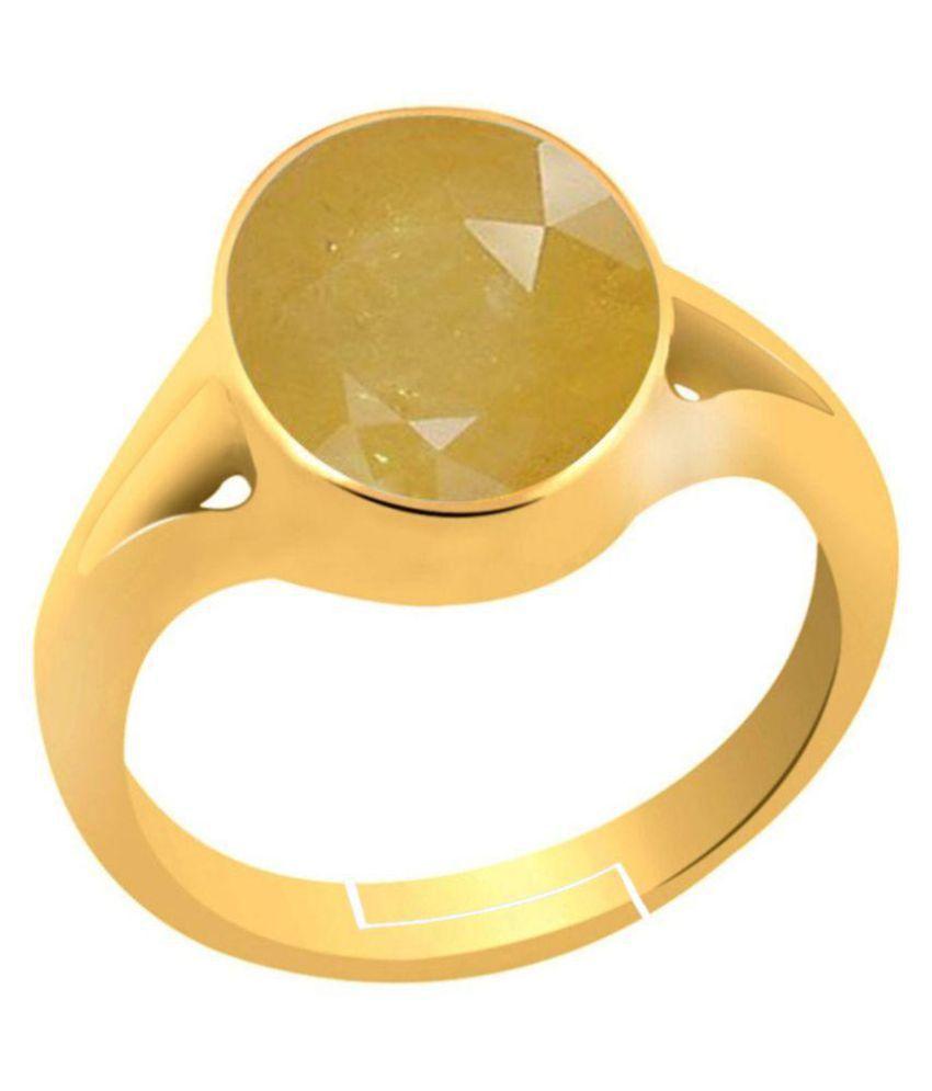 Akshay Gems 92.5 Panch Dhatu Sapphire Ring