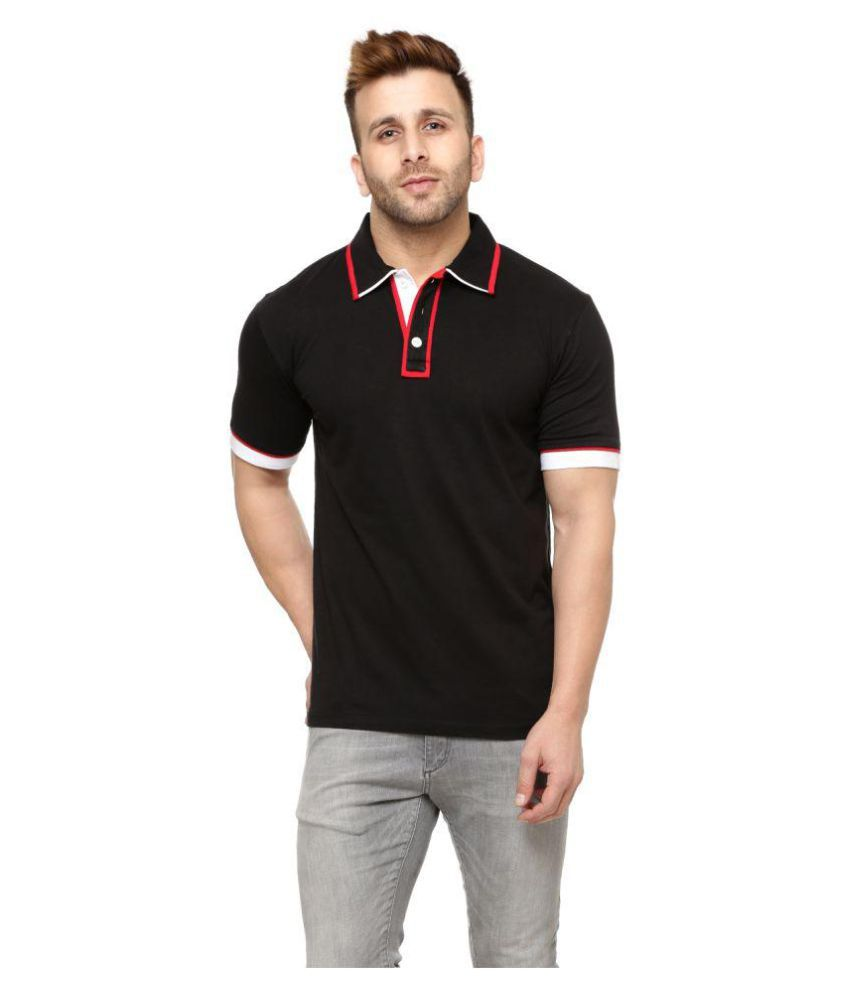 d090edea4 Gritstones Black Regular Fit Polo T Shirt - Buy Gritstones Black Regular  Fit Polo T Shirt Online at Low Price - Snapdeal.com
