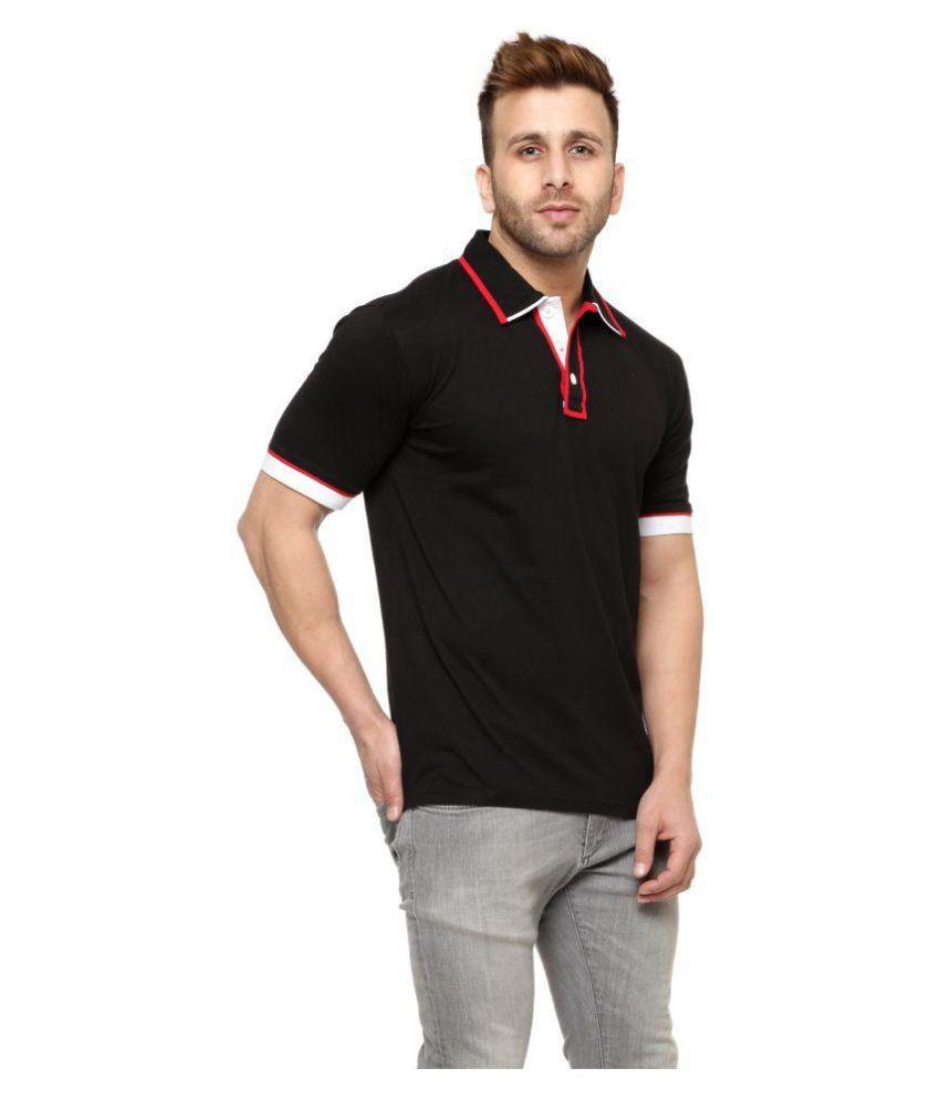 2ad390435 Gritstones Black Regular Fit Polo T Shirt - Buy Gritstones Black ...