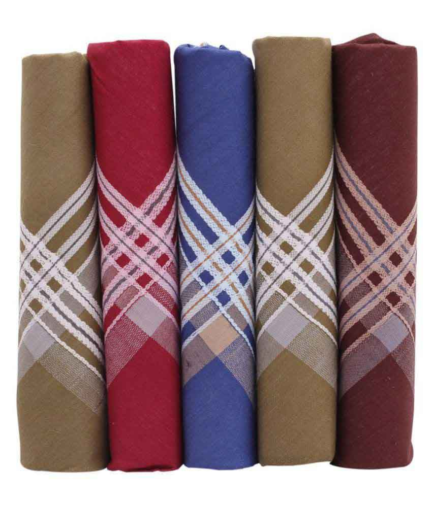 Sir Michele Multicolour Handkerchiefs (Pack Of 5)