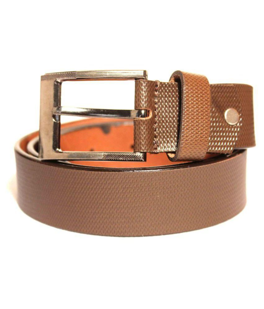 Aarmish Tan Leather Formal Belts