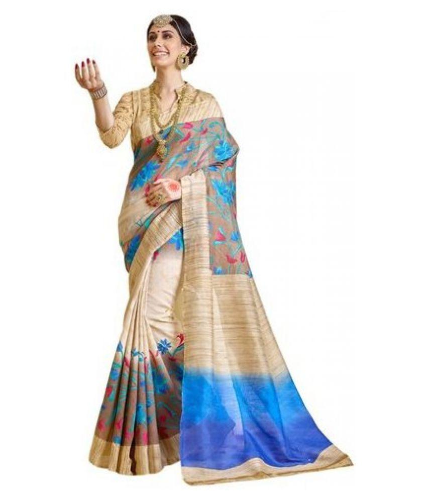 Latest Fancy Designer Multicoloured Bhagalpuri Silk Saree