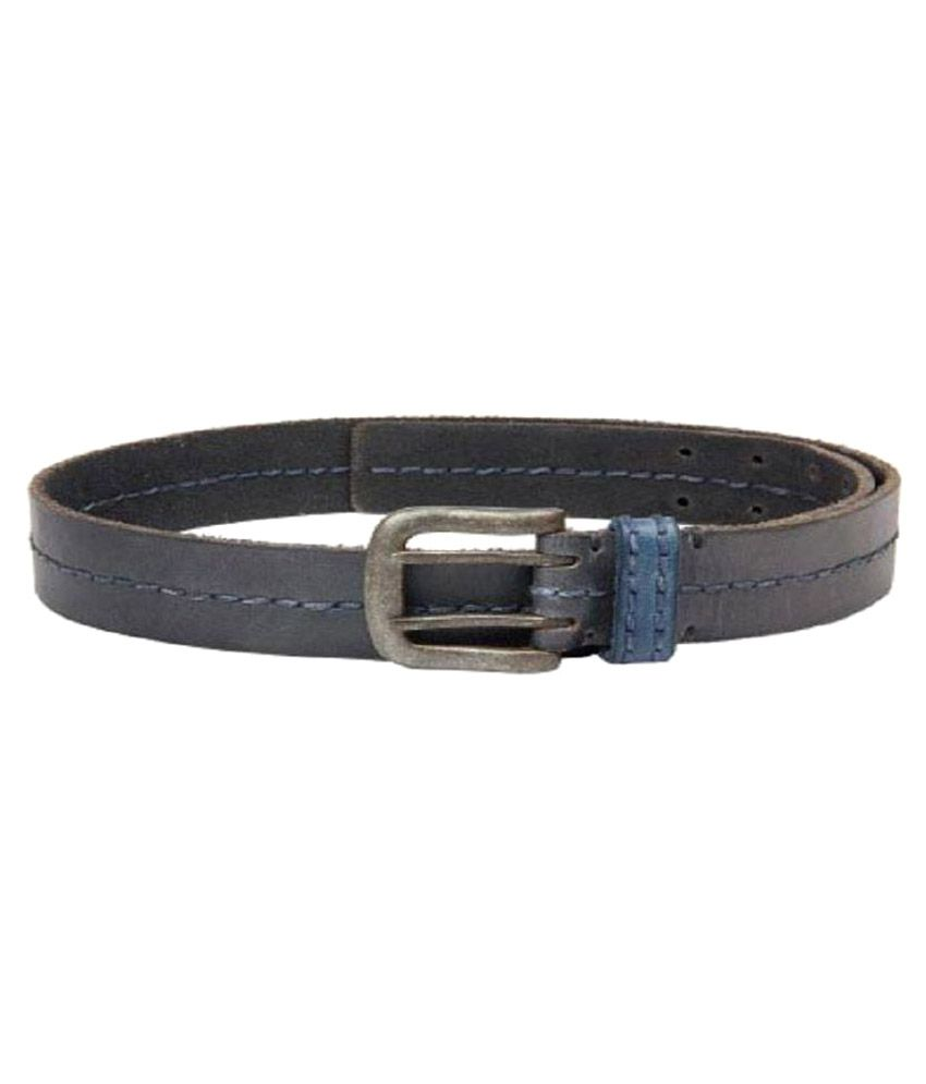 You2Deal Gray Leather Casual Belts
