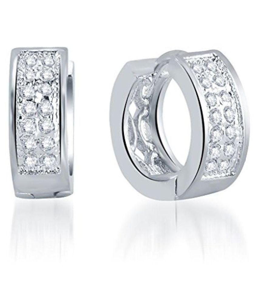 Sukkhi Incredible Rhodium Plated Micro Pave Setting CZ Earrings for Women