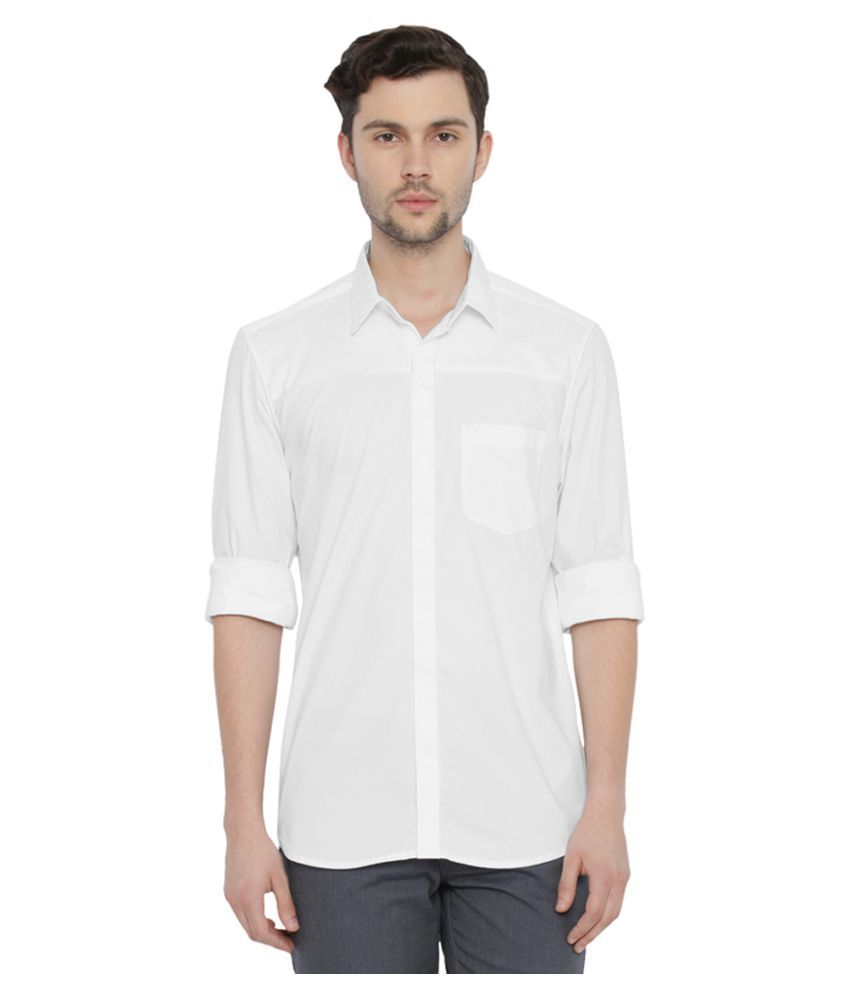 Parx White Casuals Slim Fit Shirt