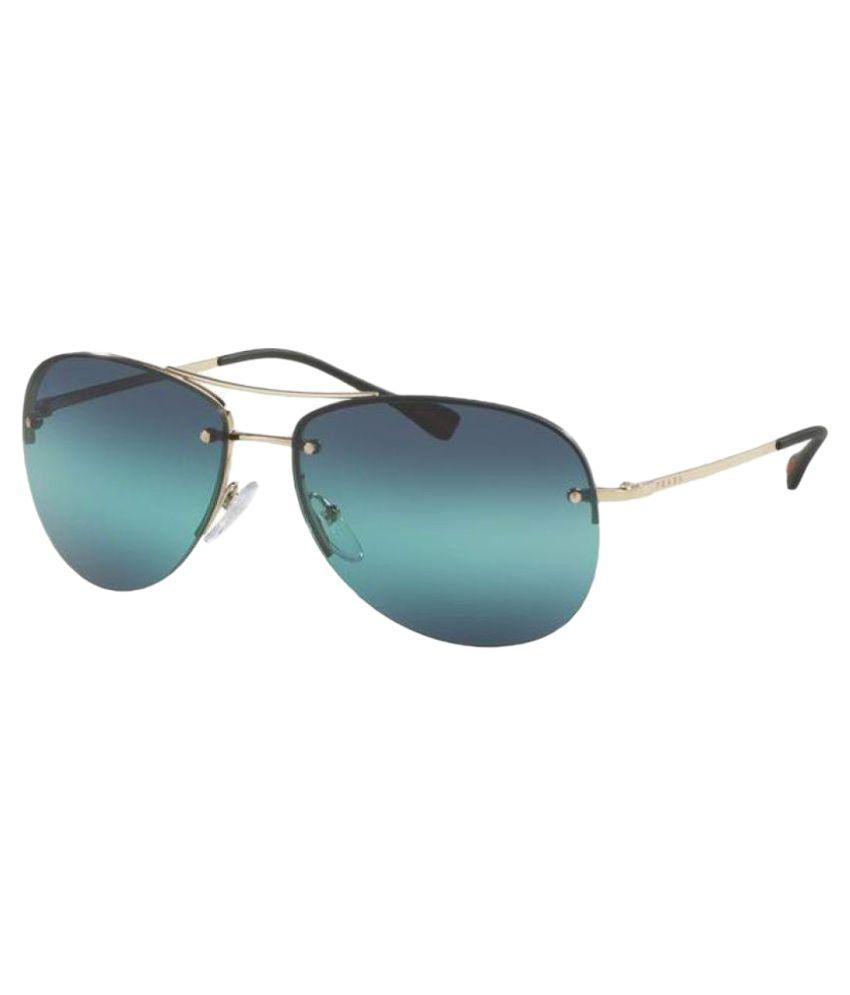 9a225a9c8888 ... coupon for prada sea green aviator sunglasses sps50r 3a77e 07b05