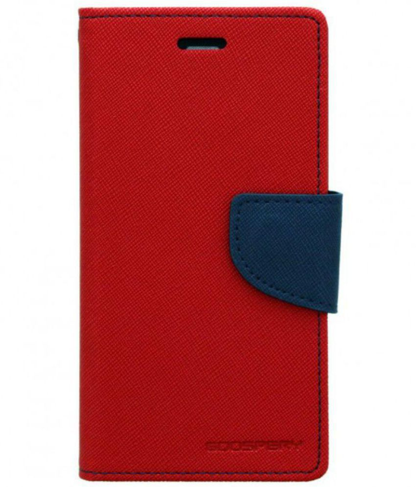 Samsung Galaxy J5 Prime Flip Cover by MOXERO - Red