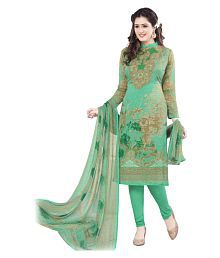 Varsha Green Chiffon Dress Material