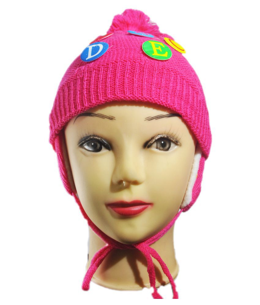 K-Only Pink Woollen Winter Cap