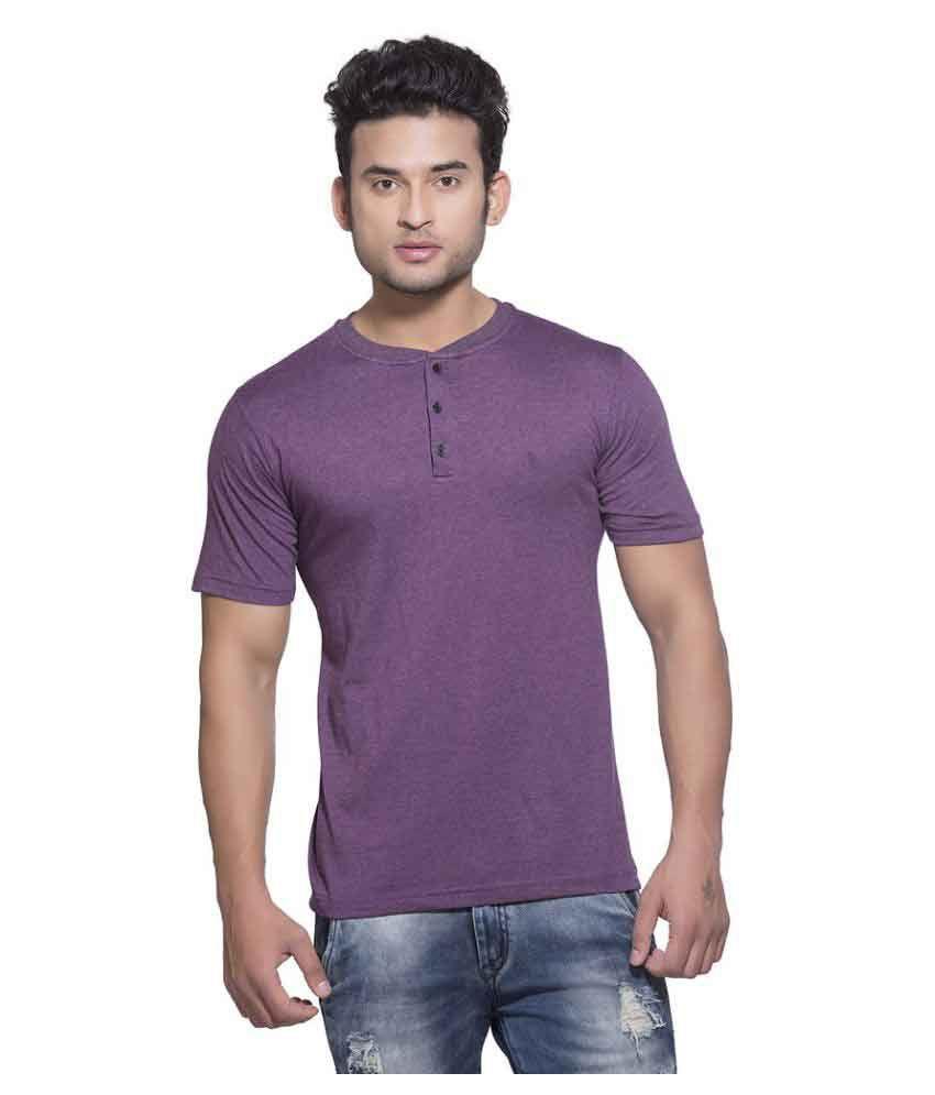 Clifton Purple Henley T-Shirt