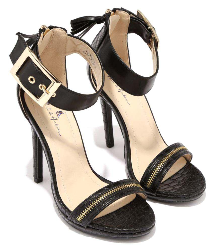 Mast&Harbour Black Stiletto Heels
