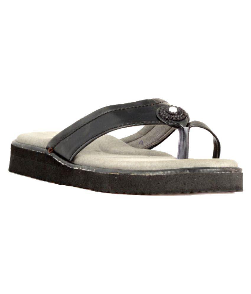 Micro-Soft Black Slippers