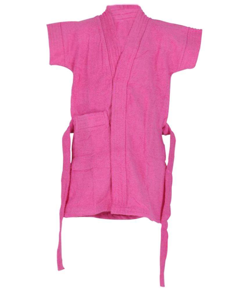 Rolex Enterprises Pink Cotton Bathrobes