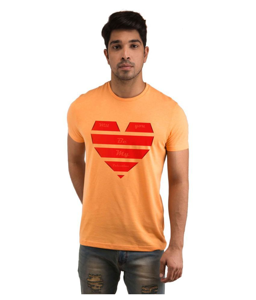 Snoby Orange Round T-Shirt