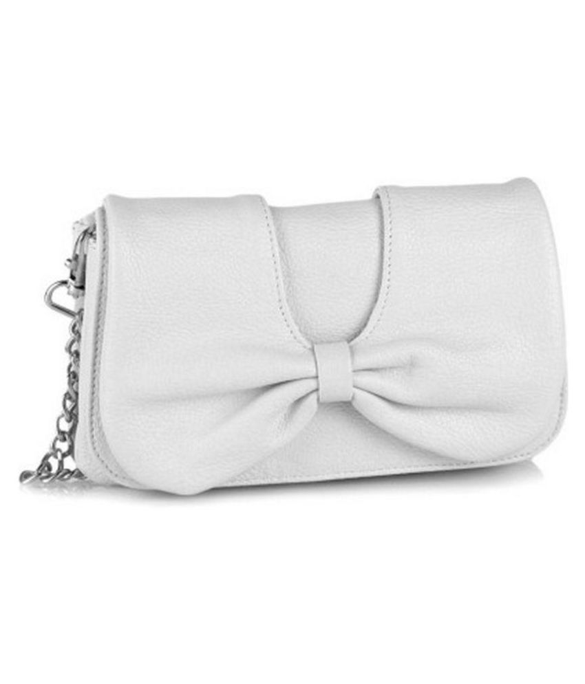 Butterflies White Faux Leather Sling Bag - Buy Butterflies White ...