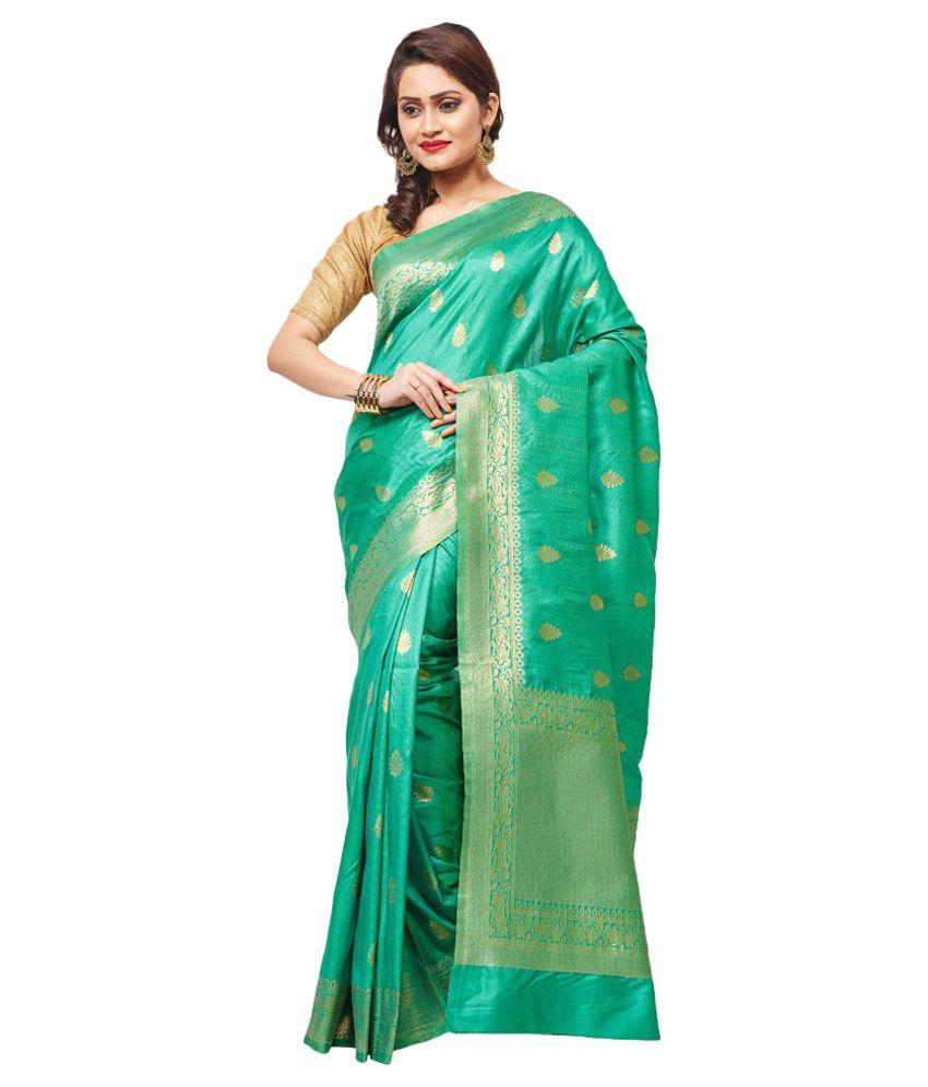 RB Sarees Green Matka Silk Saree Buy RB Sarees Green Matka