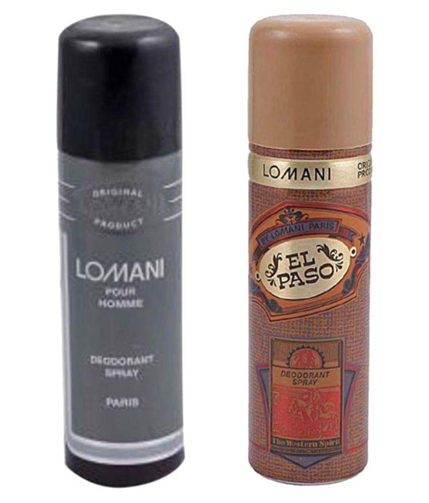 Lomani Men Body Spray (El Paso, Men) Pack of 2 - Each 200 ml