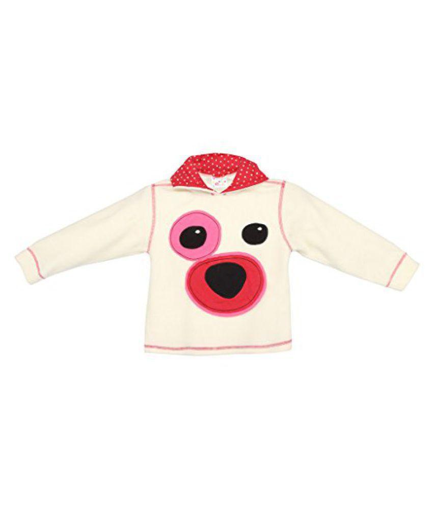 EIMOIE Girl's Full Sleeves Winter Fleece Jacket( OffWhite)