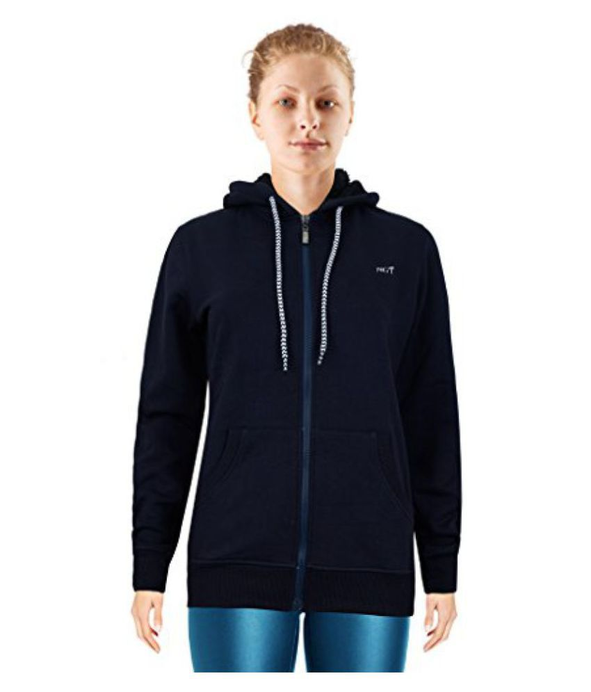 NGT Full Sleeve Navy Blue Color Hooded Sweatshirt For Women in High Quality.