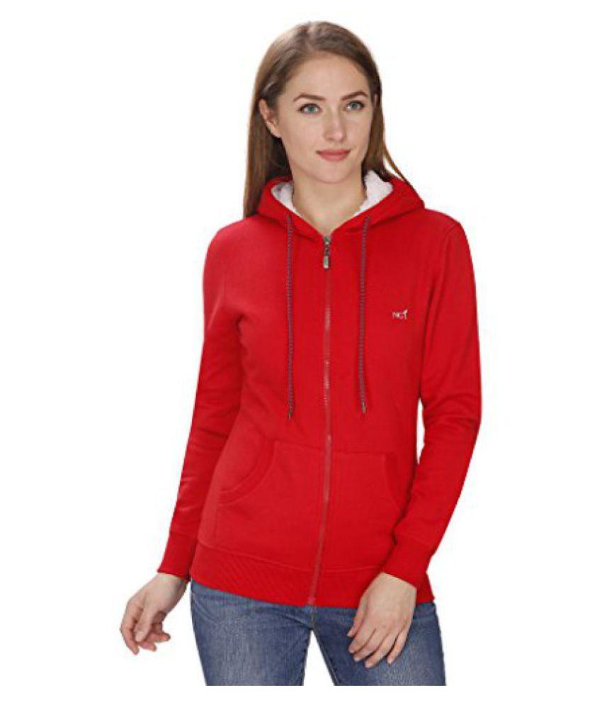 NGT Full Sleeve Red Sweatshirt For Women.