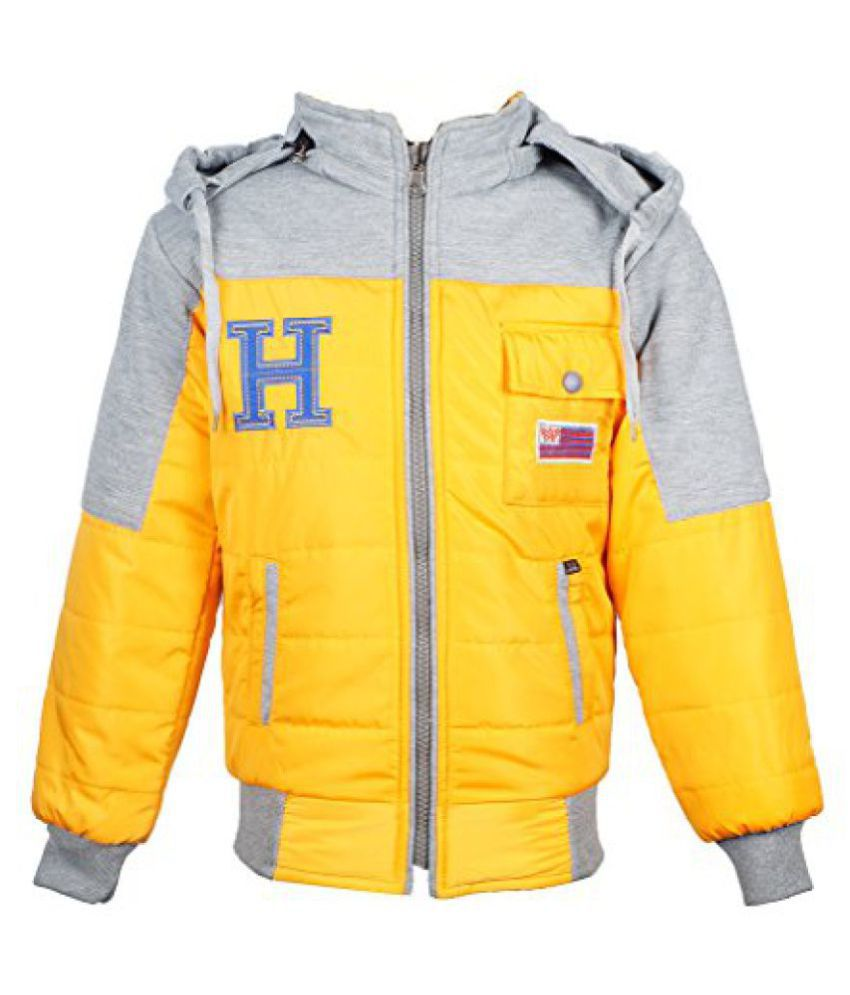Naughty Ninos Boys Yellow Reversible Jacket for 7 to 11 years