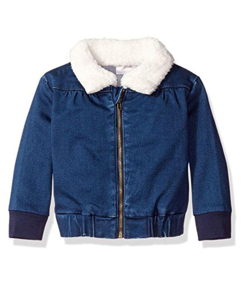 Rosie Pope Baby Girls' Denim Jacket with Sherpa